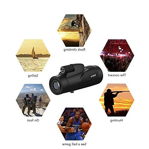 Monocular Telescope, HD Dual Vision Power Spotting Scopes with Adapter for Bird Watching, Hunting,