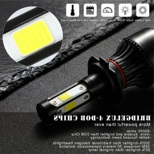 Pair 4-sides H7 CREE LED 6000K Replacement Bulbs JO