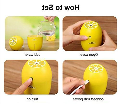 GZCNBMYUS Portable Shape Ultrasonic Maker Diffuser Night for Office Yellow