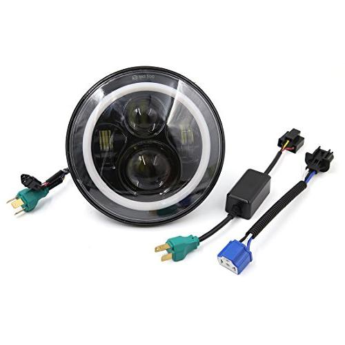 """uxcell 7"""" Round Motorcycle LED Projector Headlight For Harle"""