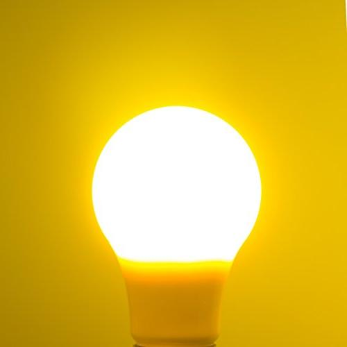 Yellow Bug Bulbs 5W, A19 Porch, Lighting, Not Dimmable, of