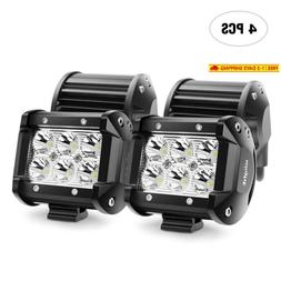 Led Light Bar Nilight 4Pcs 18W 1260Lm Spot Led Pods Driving