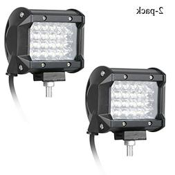 EEEKit 2-pack 4 inch 120W LED Light Bar - 6000K Cool White,