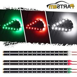 "Partsam LED Light Strip kit 6 pcs 12"" 15 LEDs Bow Led Naviga"