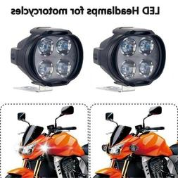 New 2Pcs Car Motorcycle Waterproof LED External Lights Fog L