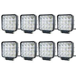 8 pcs one pack 48w 30 Degree LED flood Beam Lights Square Of