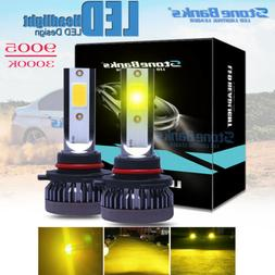 Pair 9005 9145 9140 H10 LED Fog Light 3000K Golden Yellow 22