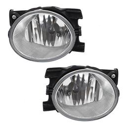 Pair Set Fog Lights Lamps Lens Units Replacement for 09-11 H