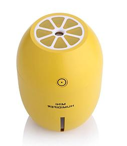 GZCNBMYUS Portable Mini USB Humidifier, 180ML Cute Lemon Sha