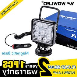 WOWLED 27W Portable LED Work Light Flood Lamp with Magnetic