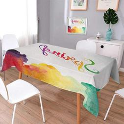 Anmaseven Quote Square Dinner Picnic Table Cloth Spring Lett
