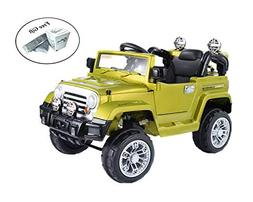 COSTWAY Kids 12V Battery Operated Ride On Jeep Truck with Bi