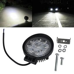 China : Spot/Flood Fog Light 27W LED Work Light 12V IP67 Off