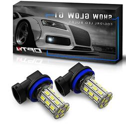 OPT7 Show Glow G1 H11 H8 H9 H16 LED Fog Light Bulbs - 10000K