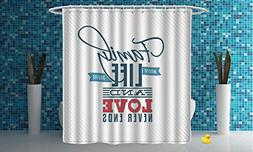 iPrint Multicolor Shower Curtain  Bathroom Accessories