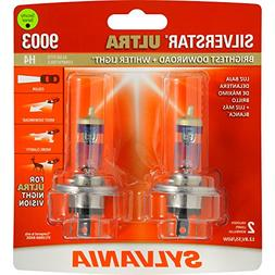 Sylvania SilverstarUltra 9003 H4 BrightestDownroad+WhiterLig