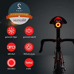 Nkomax Smart Bike Tail Light Ultra Bright, Bike Light Rechar