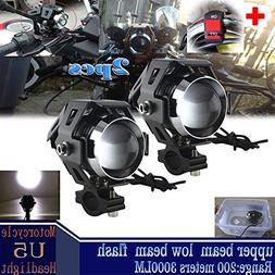 GOODKSSOP 2pcs Super Bright 3000LM CREE U5 125W LED Motorcyc