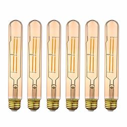 6X T10L 120V 4W Edison Vintage Amber Dimmable Radio Tube Led