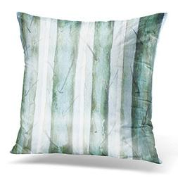 Throw Pillow Cover Green Abstract Grunge Forest Watercolor C