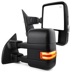 Towing Mirrors For Ford Power Heated with LED Signal Light L