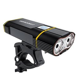 TANSOEN USB Rechargeable Bike Headlight with 2000 Lumens CRE