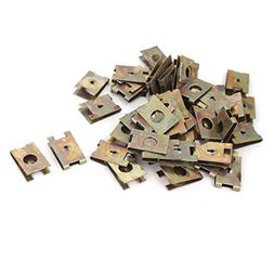 uxcell 50 Pcs 2mm U Nut Extruded Fairing Snap Speed Clip Fas