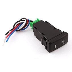 Uxcell a12121300ux0591 ON-OFF 4 Pins Headlamp Fog Light Switch Button DC 12V