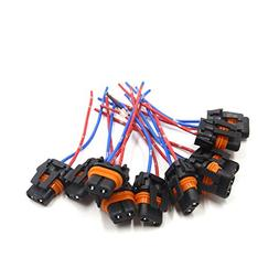 uxcell 10Pcs 9006 2 Wires Harness Socket Car Fog Light Bulb