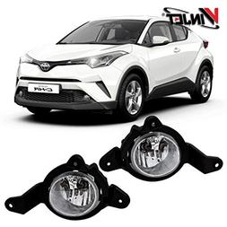 Winjet WJ30-0610-09 for 2017 2018 Toyota C-HR Clear Lens Fac