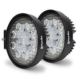 Safego 12V 24V 27W LED Work Lights Lamp for Truck OffRoad 4X