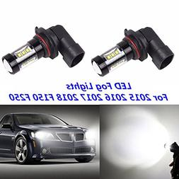 2x Xenon White High Power LED Fog Lights Bulbs For 2015 2016